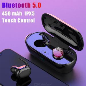 Y30 TWS Fingerprint Touch Bluetooth 5.0 Earphone Wireless Stereo Noise Cancelling Headset For Mobile Phone