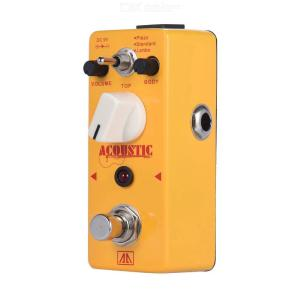 AROMA AAS-5 Acoustic Guitar Simulator Effect Pedal 2 Modes Guitar Effect Pedal with Aluminum Alloy Body True Bypass
