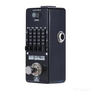 AROMA AEB-5 5-Band Graphic EQ Bass Guitar Equalizer Effect Pedal with Aluminum Alloy Body True Bypass
