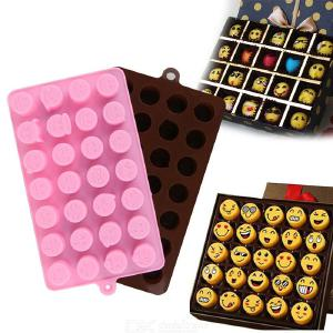 28 Holes QQ Expression Chocolate Silicone Mould, Cake Cookies Mold Baking Accessories Fondant Candy Silicone DIY Molds