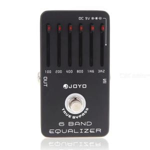 Joyo JF-11 EQ Equalizer 6-Band Guitar Effect Pedal with True Bypass