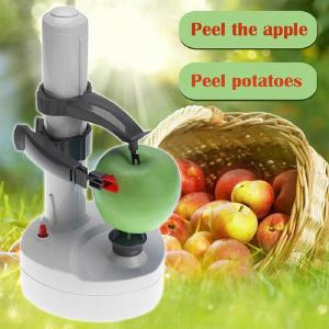Automatic Stainless Steel Electric Peeler for Fruit Vegetable Potato Cutter, Two Spare Blades Peeling Machine Kitchen Tool