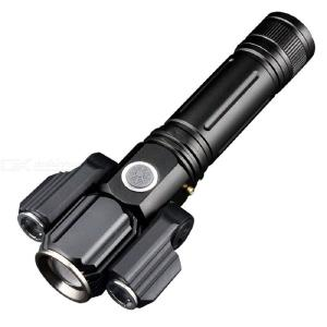 KINSACH KS-737 Multifunctional Super Bright 3-Head 4-Mode LED Flashlight Rechargeable Torch Light For Outdoor Lighting