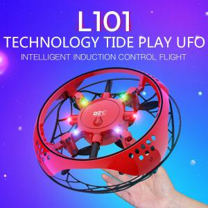 L101 Hand Operated Mini Toy Drone UFO Flying Toy With Lights 360-Degree Flip