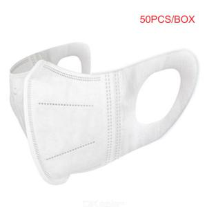 50PCS/Box Disposable Mask 3D 3-Ply Non-Woven Face Mask Respirator For Daily Protection