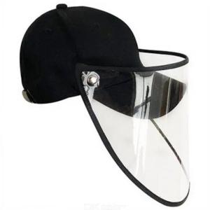 Unisex Anti-saliva Bucket Hat / Baseball Cap Foldable Removable PVC Face Shield Mask Protective Cap
