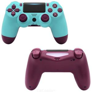 Wireless Game Controller Bluetooth Wireless Gamepad With LED Strip Earphone Microphone Ports For PS4