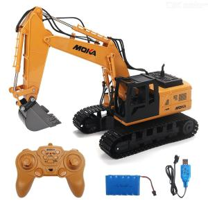 RC Excavator 2.4G 1:12 Scale Full Functional Remote Control Toy Construction Car For Children Kids