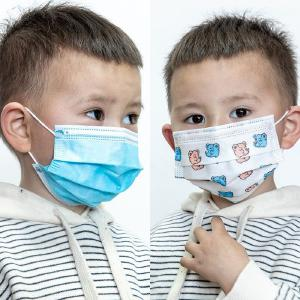 50PCS/set Children Disposable Protective Mask 3-layer Breathable Dustproof Facemask