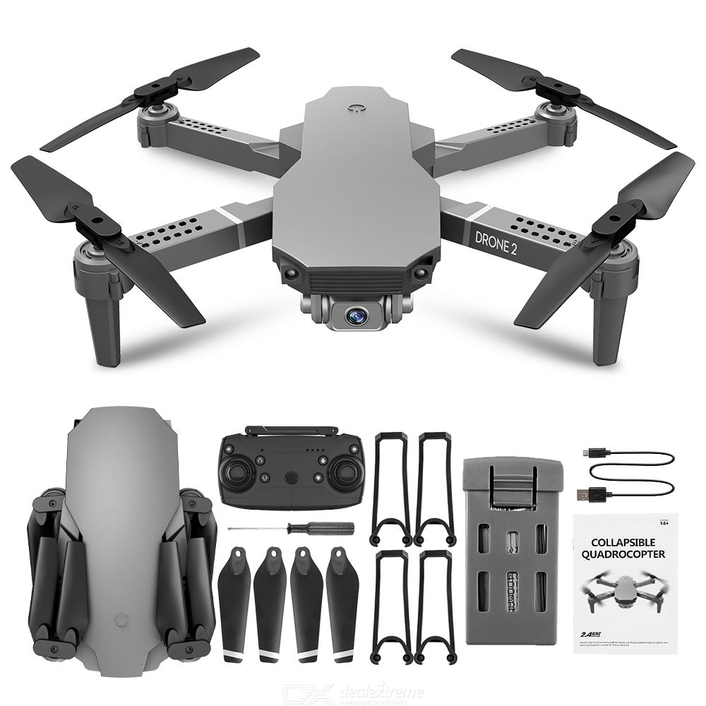 Lyzrc l702 folding quadcopter dual cameras 4k hd wifi 8-10min 100m 4 channels