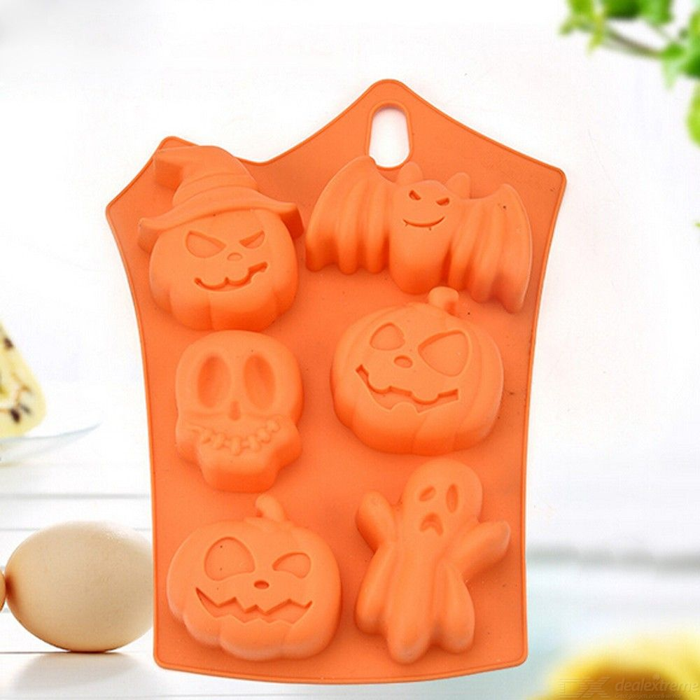 Creative happy halloween silicone pumpkin cake silicone mold kitchen bake tools drop ship