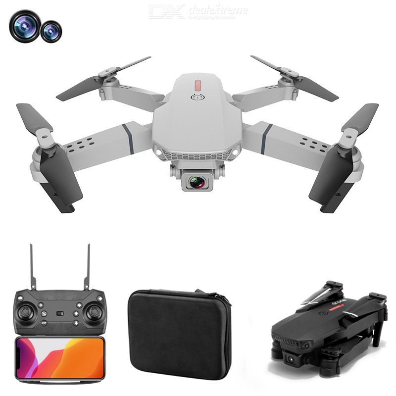 E88 pro foldable uav 4k hd aerial photography drone optical flow drone with dual cameras 4-axis rc drone multi-battery version