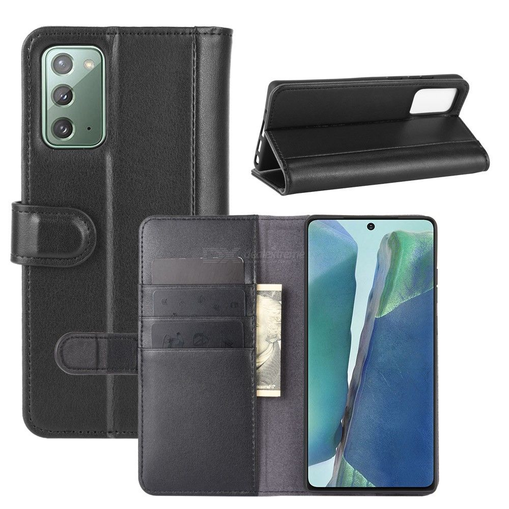Chumdiy flip case for samsung galaxy note 20 genuine leather wallet phone case cover with kickstand card cash holder