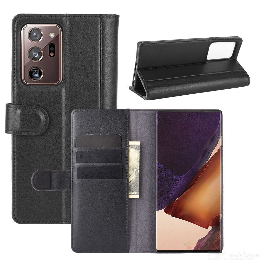 Chumdiy flip case for samsung galaxy note 20 ultra genuine leather wallet phone case cover with kickstand card cash holder