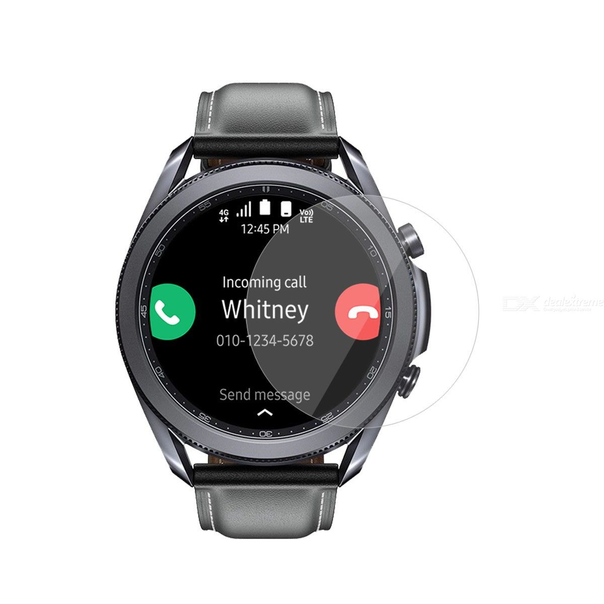 2pcs for samsung galaxy watch3 45mm enkay hat-prince clear hd pet screen protector film