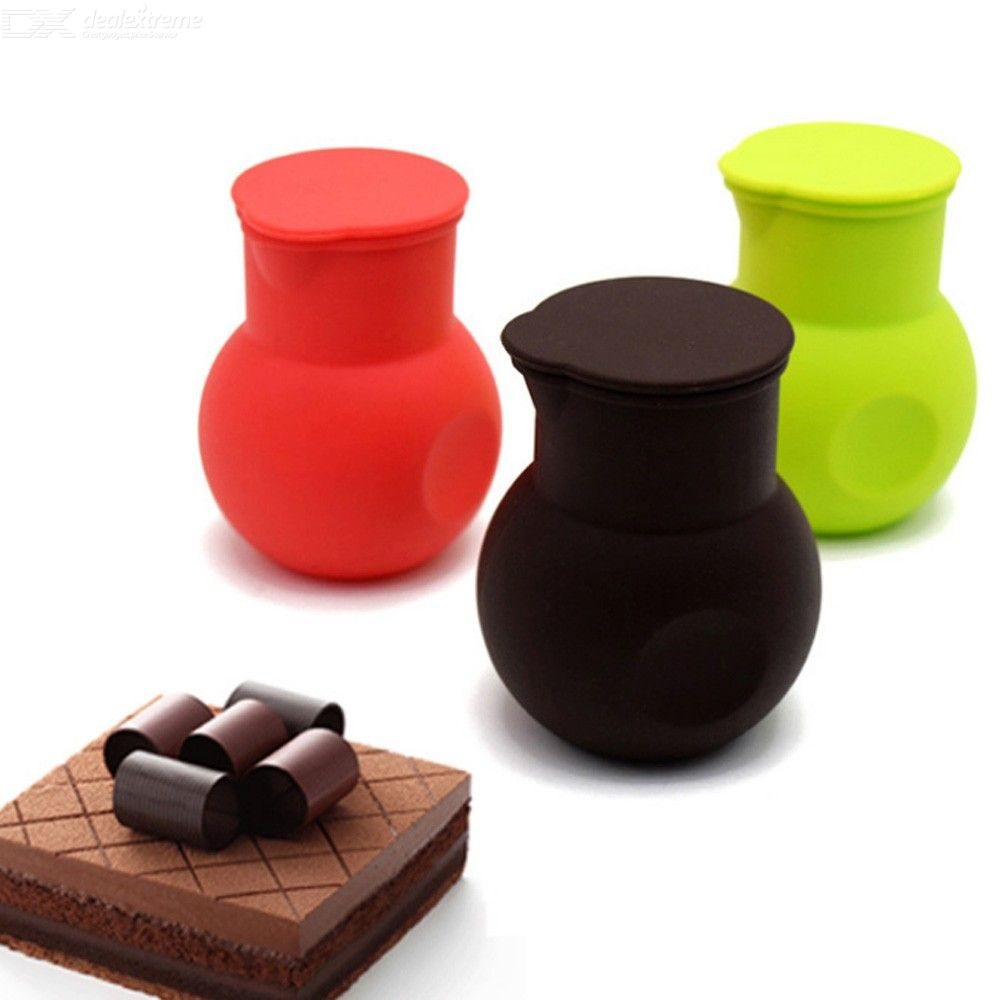 1pc bakeware tools silicone chocolate melting pot silicone butter sauce milk baking pouring microwave nonstick melt butter pot
