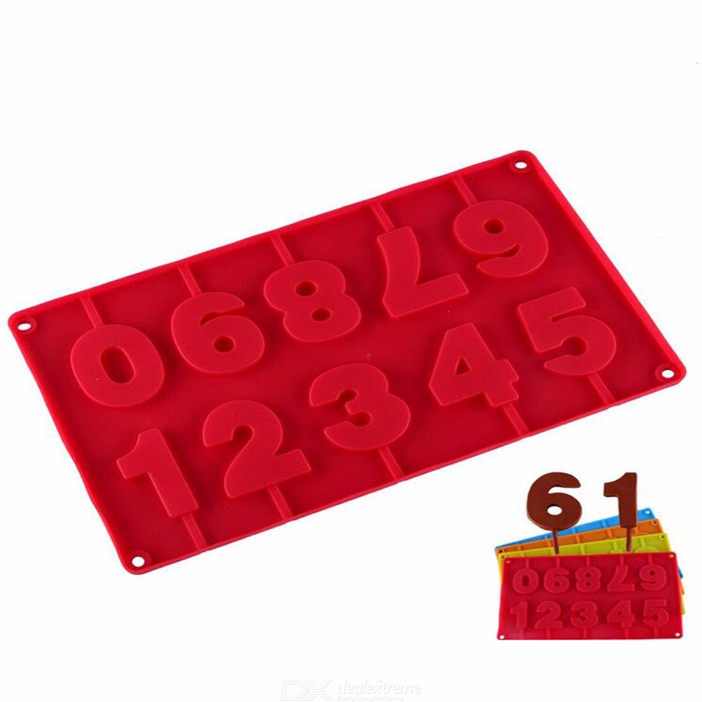 Bornisking 1pcs silicone numbers chocolate mold, cookies cold,3d digital shape fondant cake tools, cake decorating