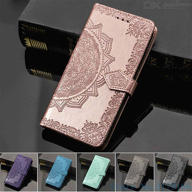Leather phone wallet case with flower pattern folio flip cover for samsung galaxy s20 fe / s20 ultra / s20 plus / note 20 plus