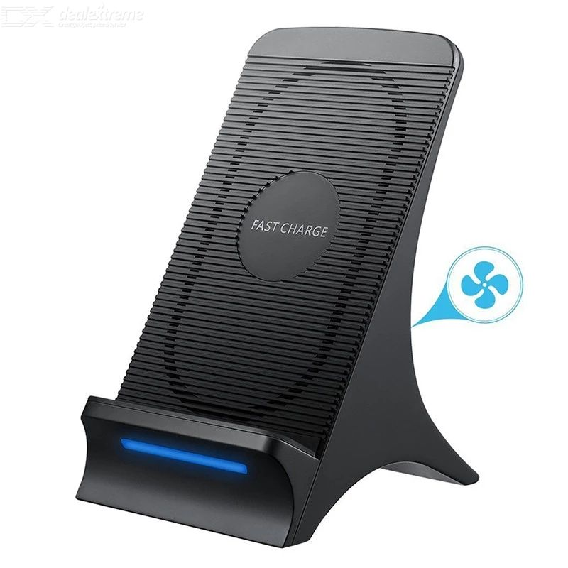 S550 fast wireless charger with cooling fan qi wireless charging stand for iphone x 8 plus samsung galaxy s8 s8 plus s7