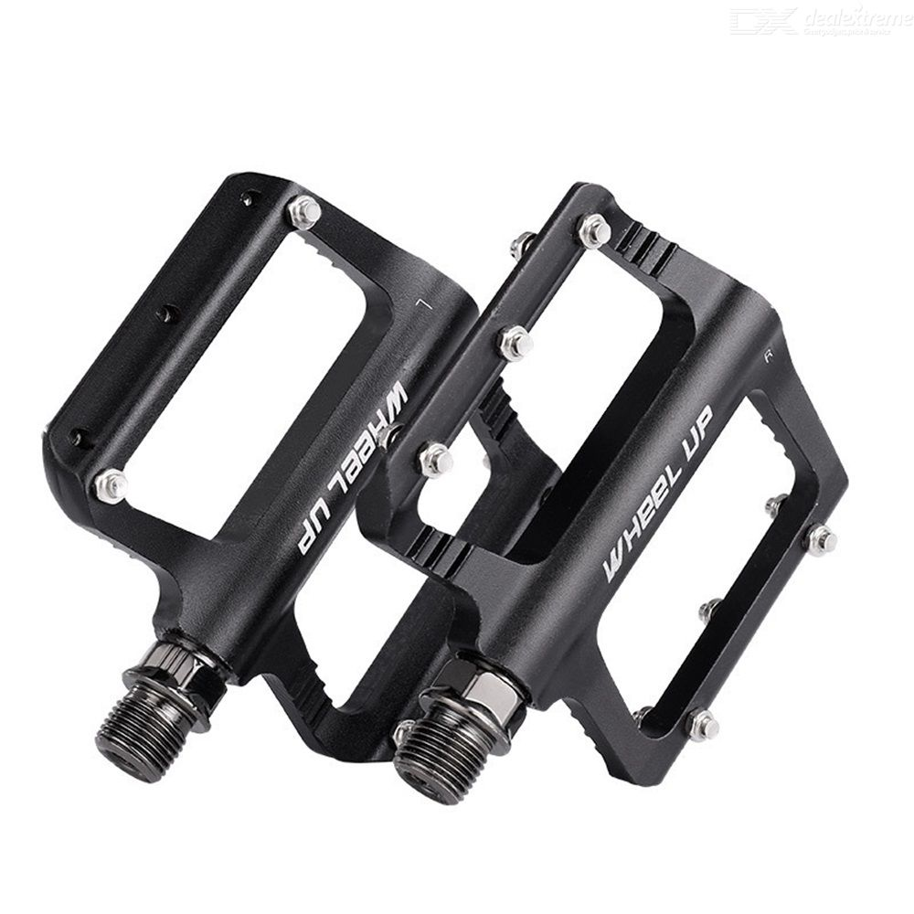 Wheelup bike pedals aluminum alloy body sealed bearing design durable with stainless steel anti-slip nails