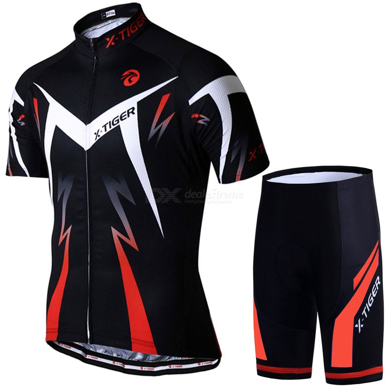 X-tiger cycling jersey set summer cycling wear clothing sweat absorption ventilation sportswear men cycling suit