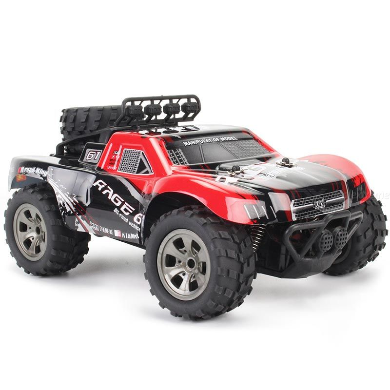 Kyamrc ky-1885a rc off-road car 1/18 simulation model 2.4g remote control gun-type remote control with rubber hollow tires