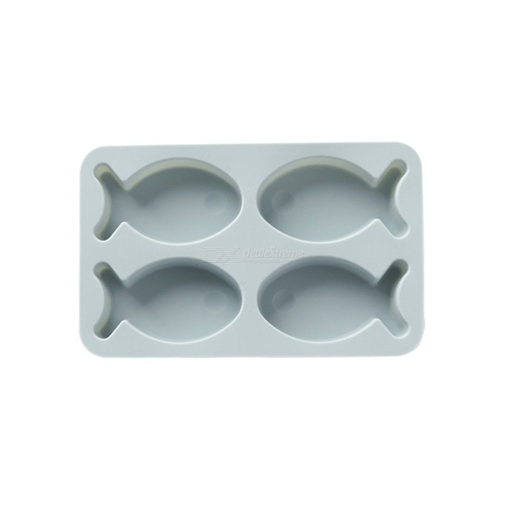 Silicone rice cake cake baking mold 4 even lovely small fish handmade soap chocolate mold