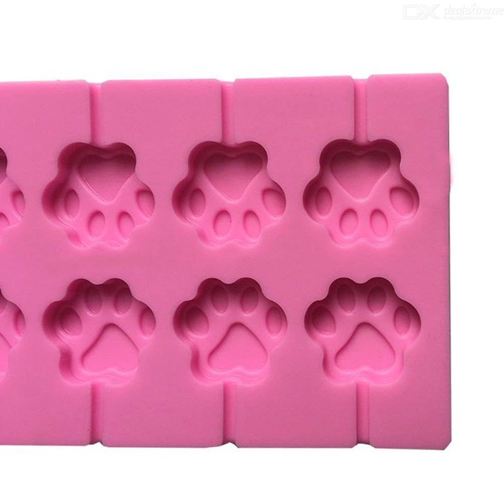 12hole consecutive lollipop mold food grade silicone diy cat paw bear head lollipop mold thickened 20 lollipop free