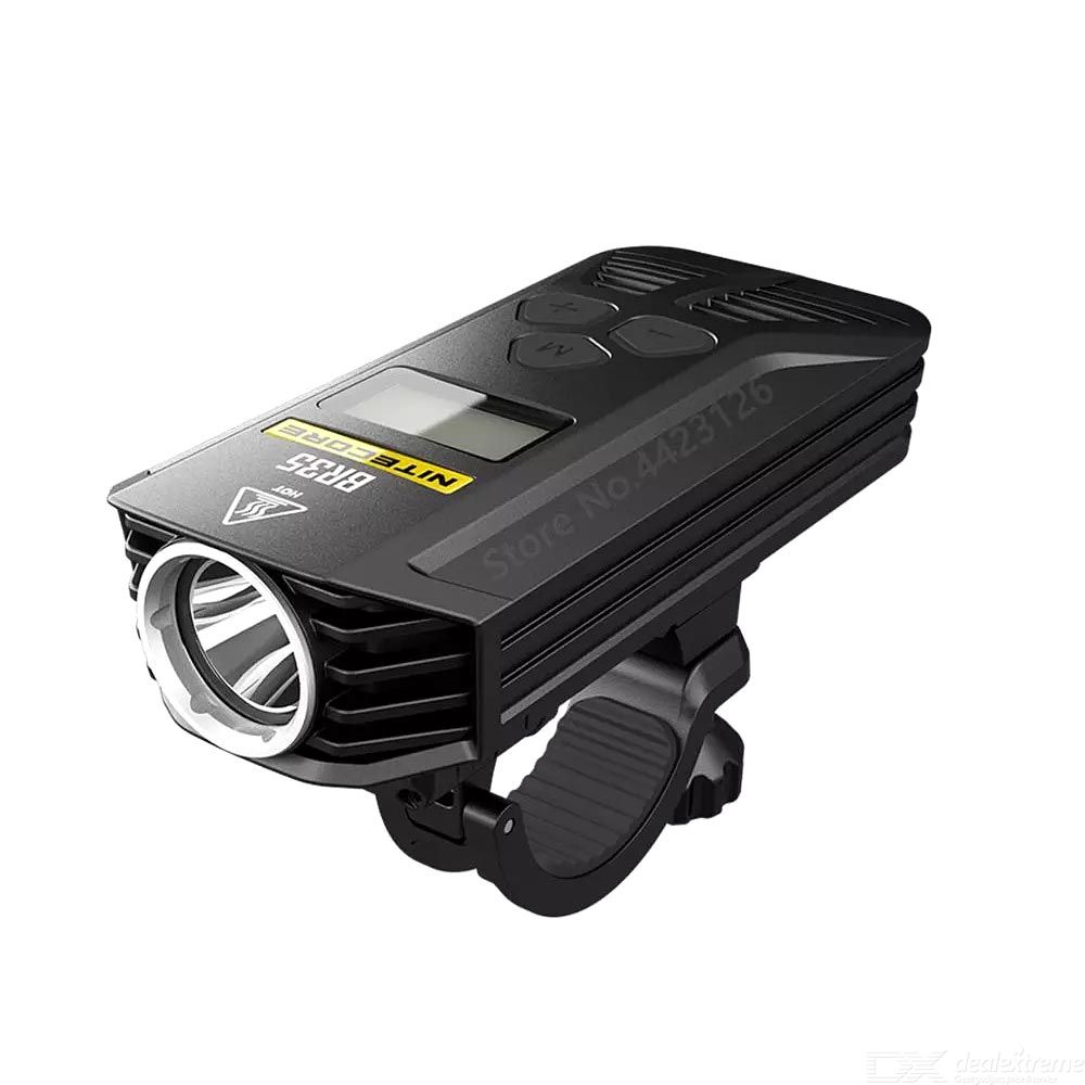 Nitecore br35 bicycle lights 1800 lumens dual distance beam rechargeable oled display micro-usb port