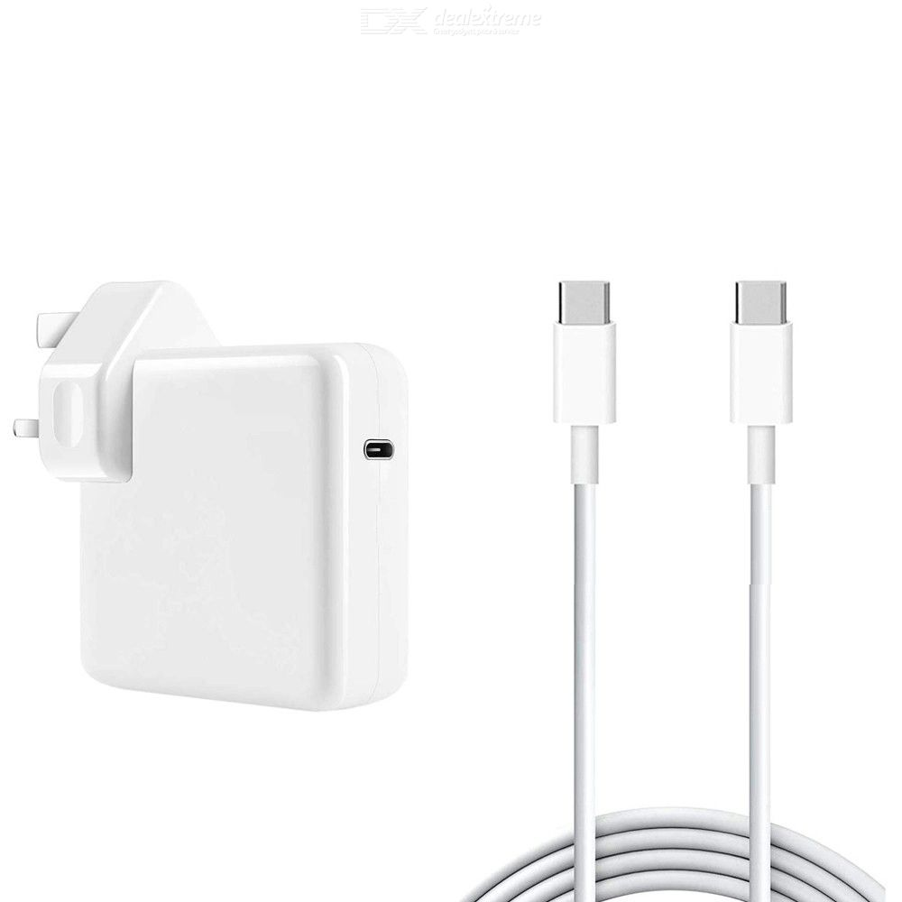 Usb-c 96w pd mac adapter + 5a 2m usb-c to usb-c fast charging cable for apple macbook series uk plug