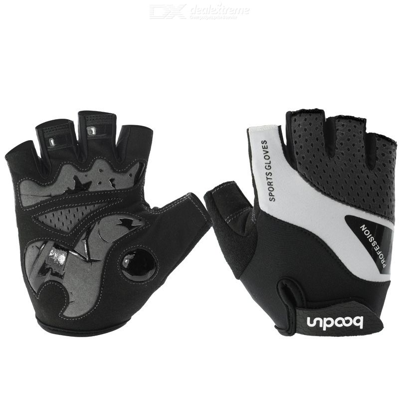 Boodun cycling gloves half finger anti-slip shock absorption bicycle gloves