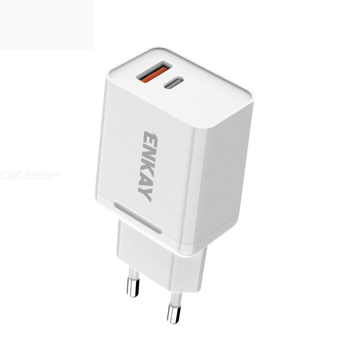 Enkay hat-prince t030 18w 3a pd+qc 3.0 fast charging travel charger power adapter, eu plug