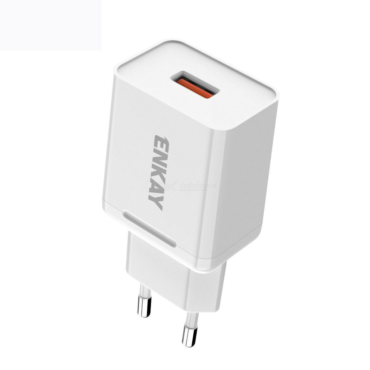 Enkay hat-prince t006-1 18w usb qc 3.0 fast charging travel charger power adapter, eu plug
