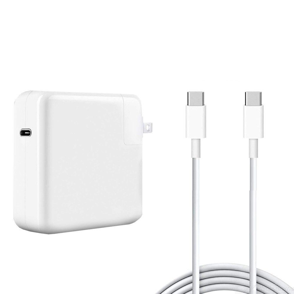 Usb-c 96w pd mac adapter + 5a 2m usb-c to usb-c fast charging cable for apple macbook series us plug