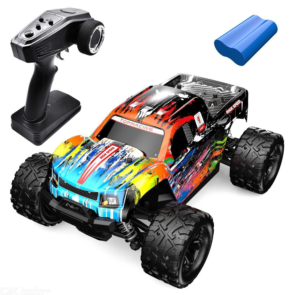 Dm-1811 1/18 rc car 2.4g remote control anti-fall anti-collision with tpr rubber vacuum tires (single electric version)