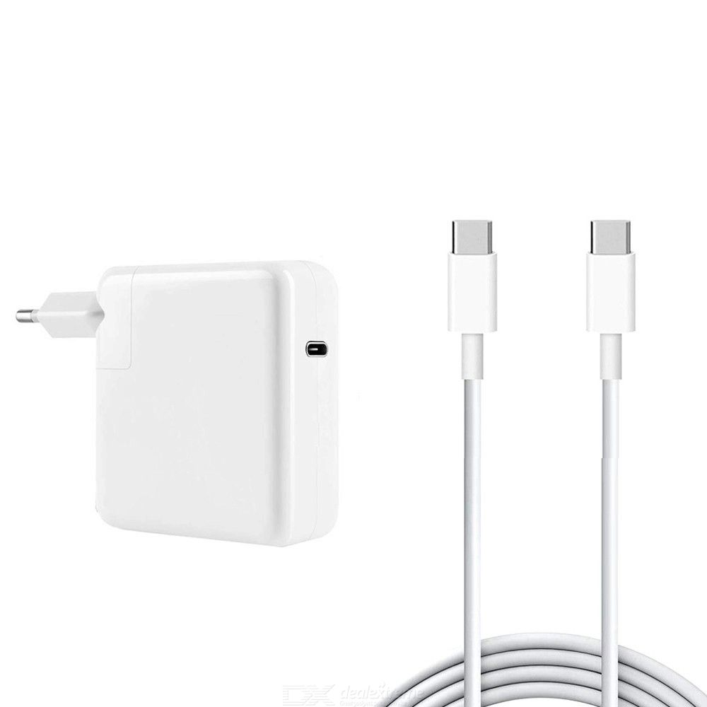 Usb-c 96w pd mac adapter + 5a 2m usb-c to usb-c fast charging cable for apple macbook series eu plug