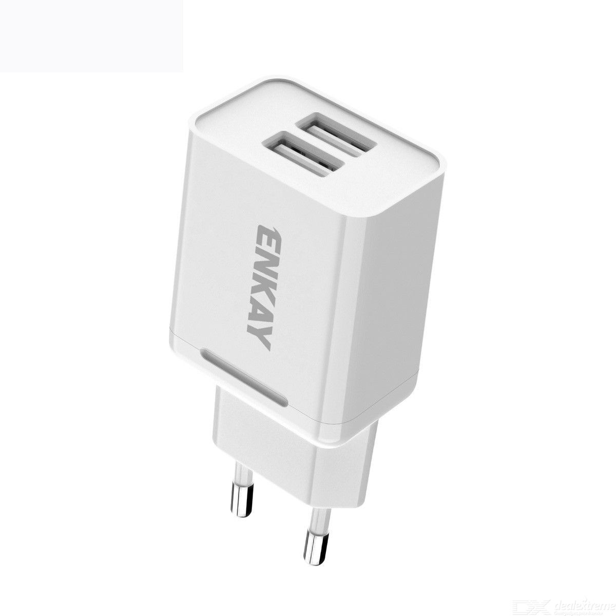 Enkay hat-prince t003-1 10.5w 2.1a dual usb travel charger power adapter for huawei / xiaomi / samsung, eu plug