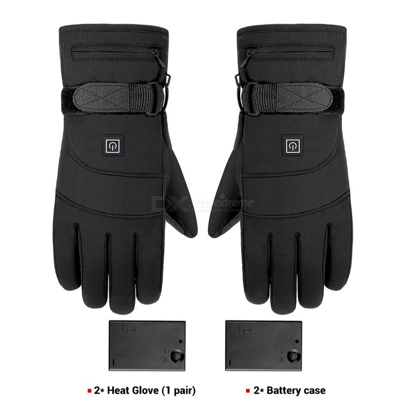 Bicycle cycling gloves heating constant temperature windproof gloves winter warm-keeping waterproof gloves