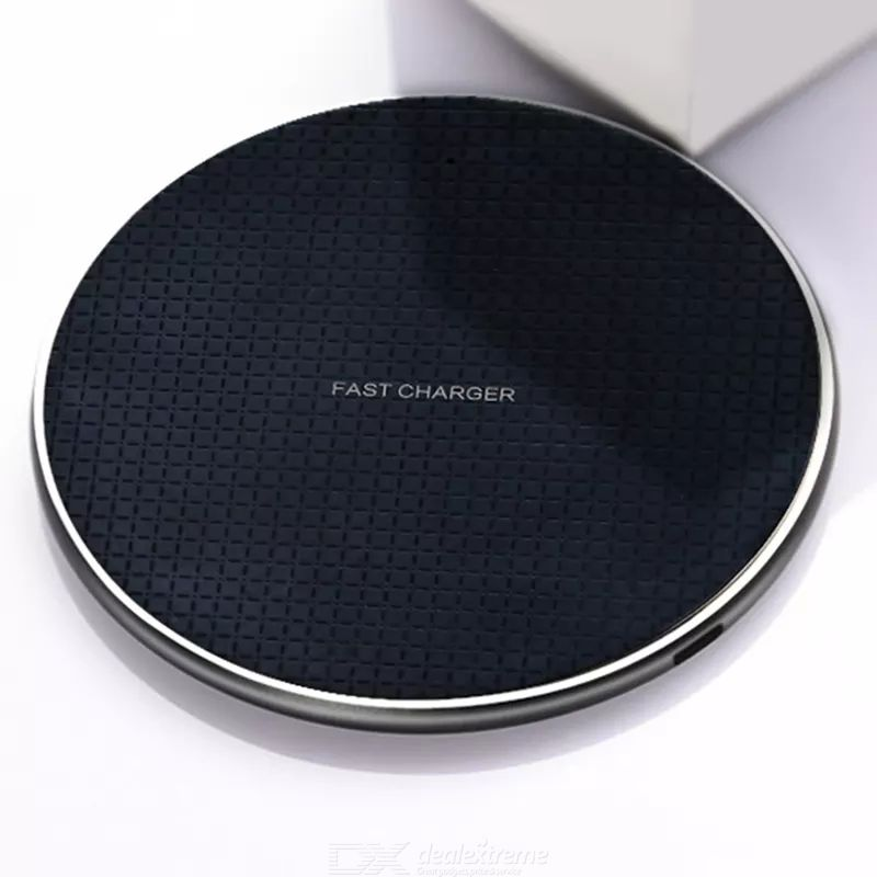 Wireless charger 10w fast charging round shape 1m length cable