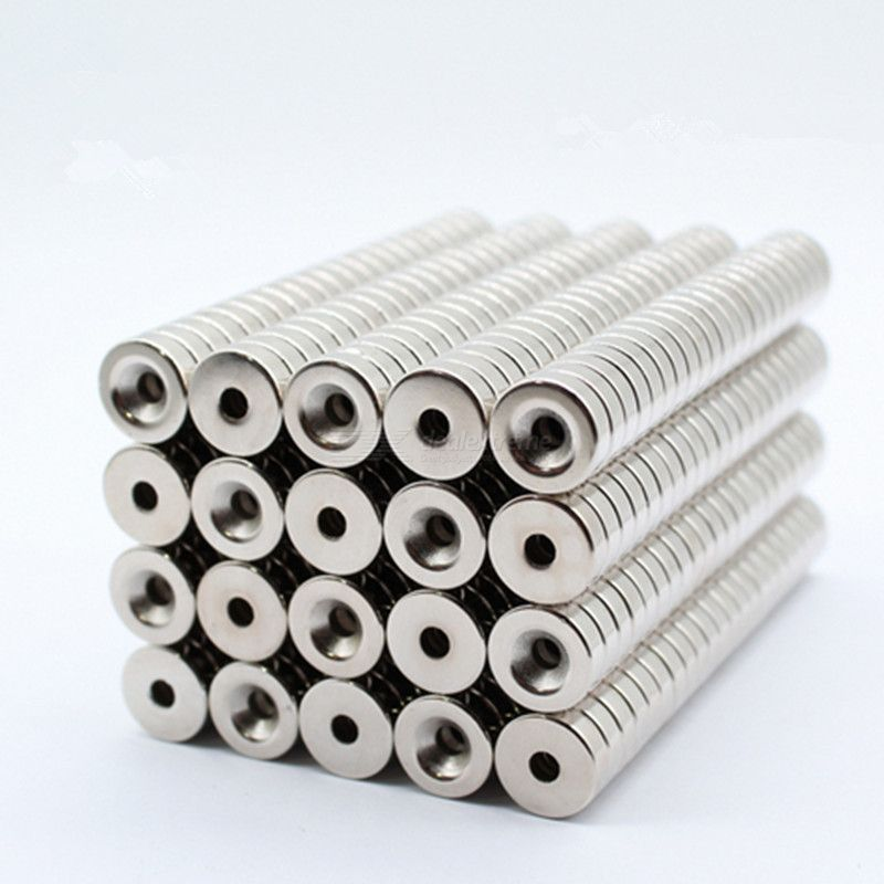 50pcs/set 125mm round powerful magnet with hole