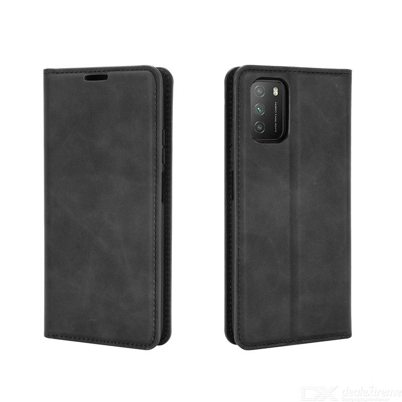 Chumdiy luxury pu leather wallet case with magnetic closure for xiaomi poco m3