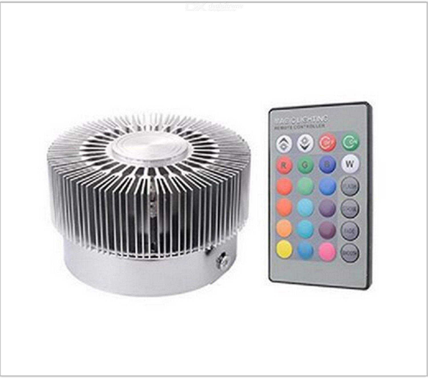 Led sunflower wall lamp modern simple colorful wall lamp with remote control