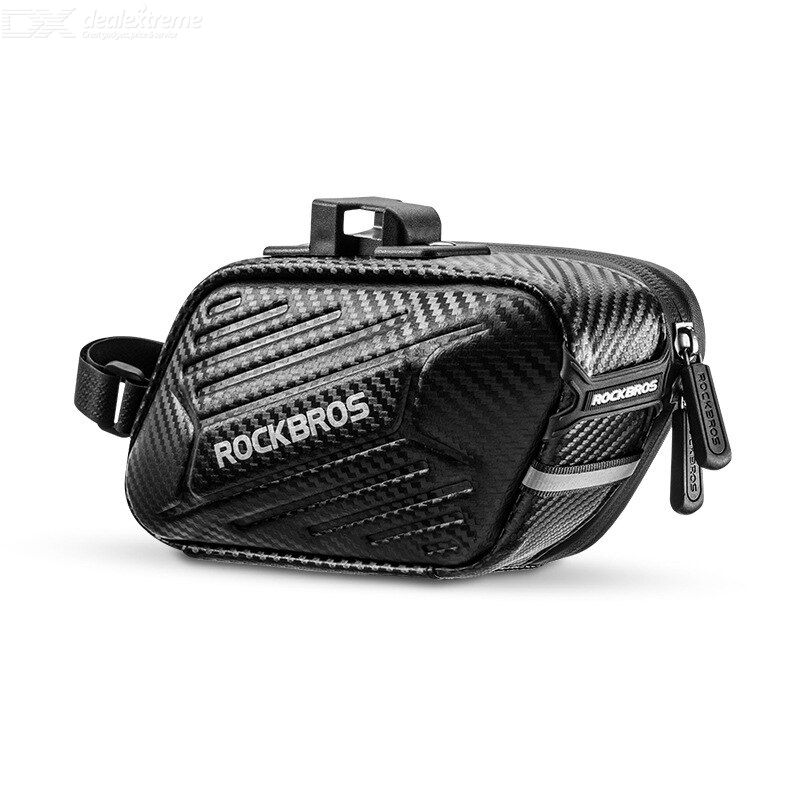 Rockbros b59 bike saddle bag bicycle tail bag folding saddle bag back seat bag hard shell back seat bag