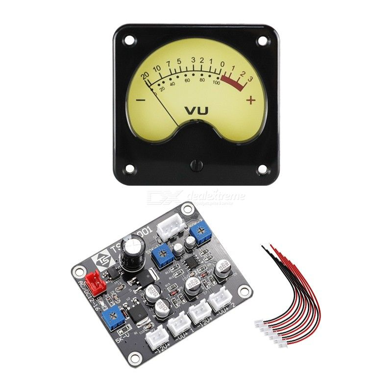 High quality vu meter head amplifier db meter electronic tube amplifier level sound pressure meter tr-57 with driver board