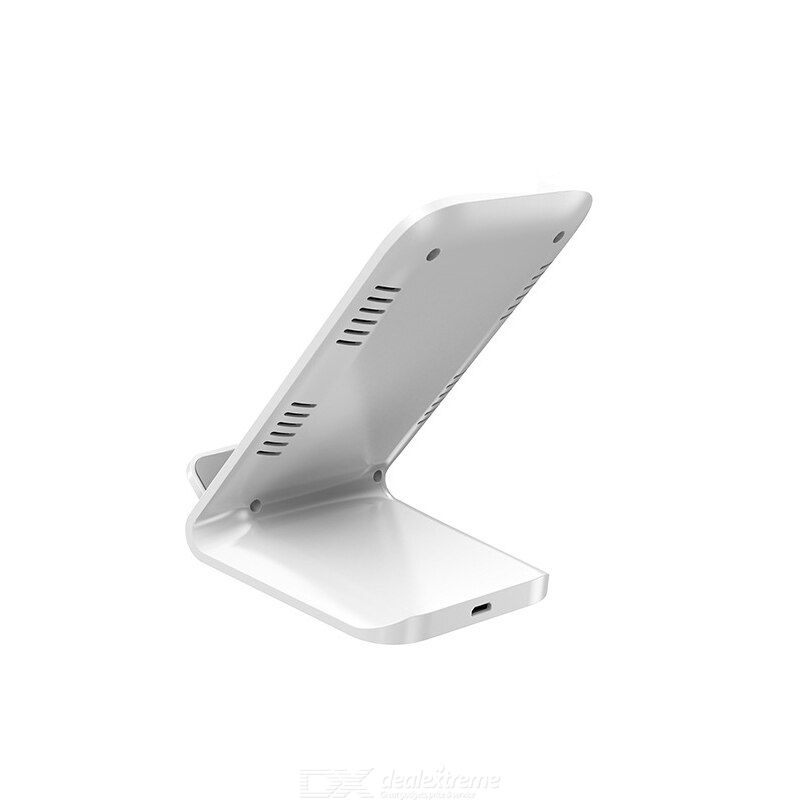 Wireless charger stand double coil design unique diffuse hole design durable 10/15w