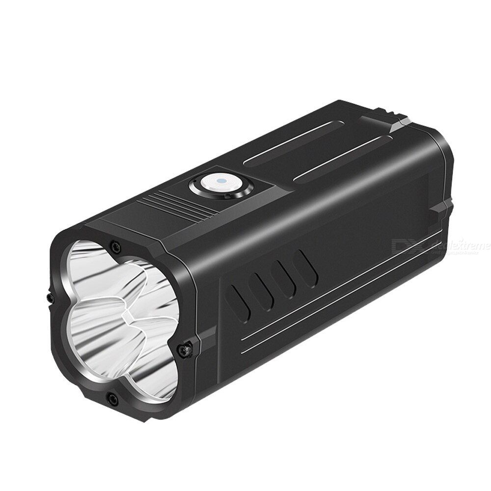 Supfire m20 72w 6000 lumens powerful flashlight with power bank function p50x4pcs lamp beads camping fishing waterproof torch