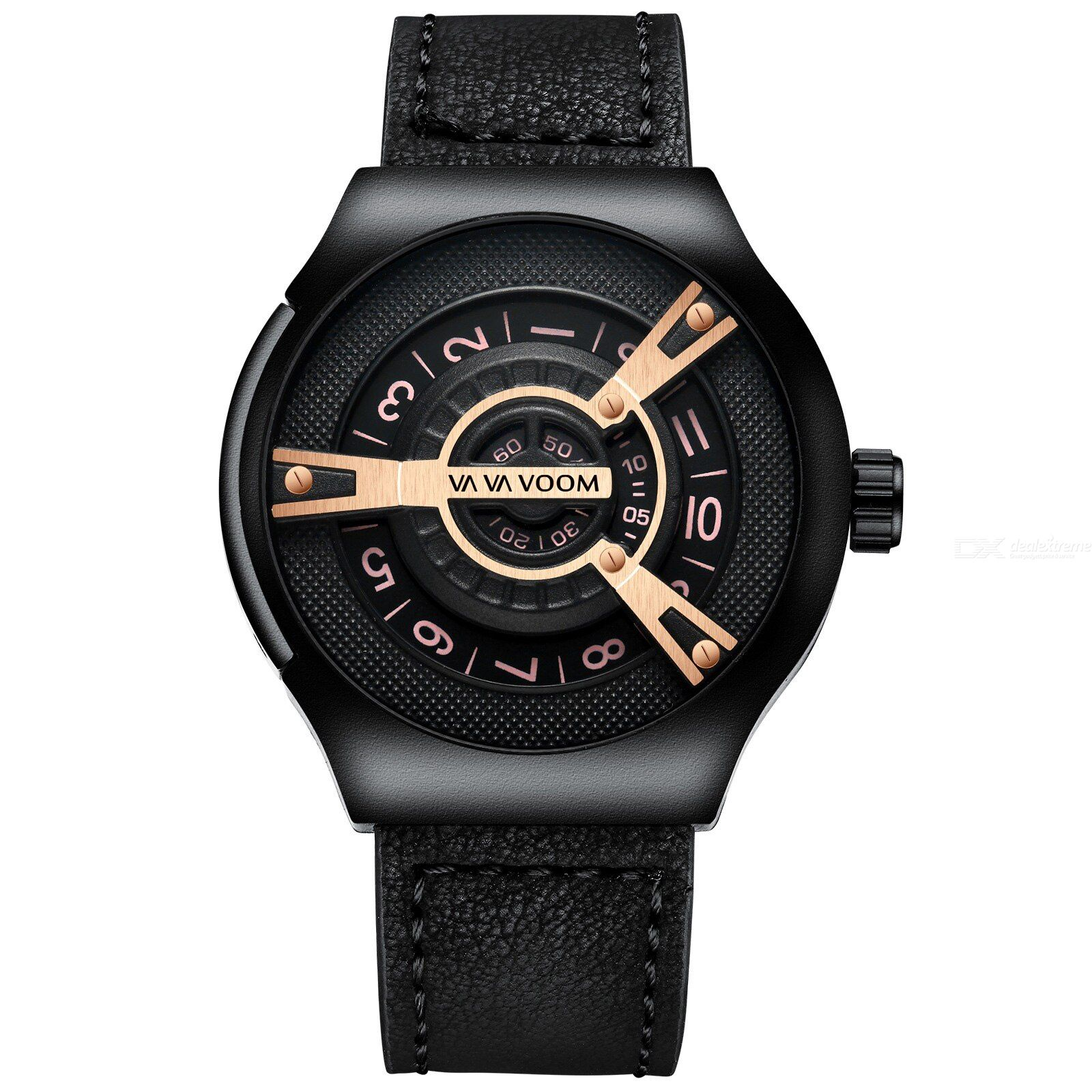 Vava voom men sport creative chronograph luxury casual leather wristwatch