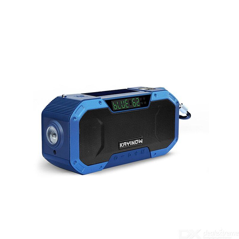 Solar power fm/am radio outdoor multi-function emergency hand crank fm radio bluetooth speaker