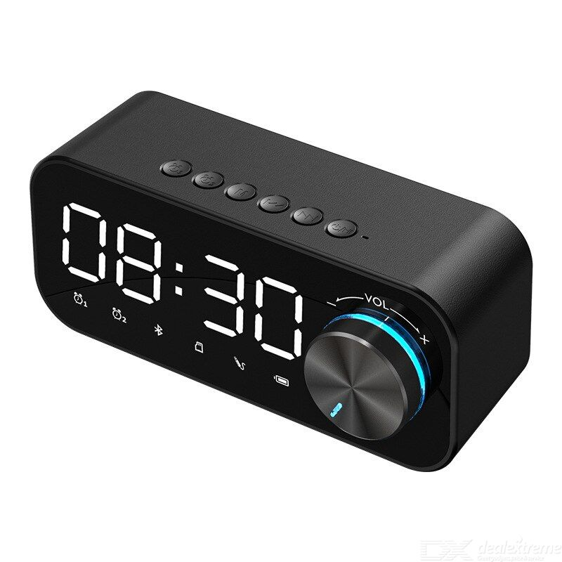 Multi-function bluetooth speaker alarm clock wireless mini desktop luminous speaker