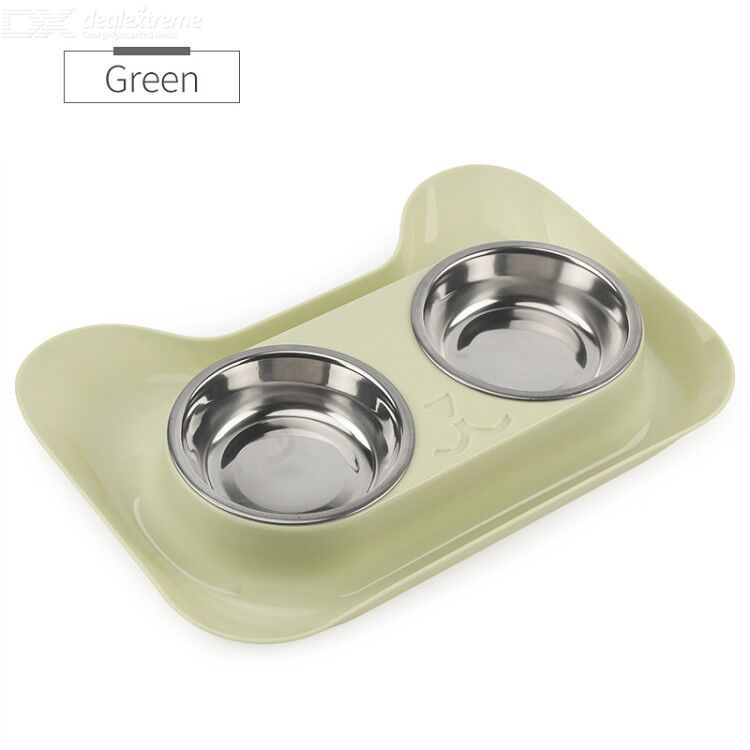 Non-slip cat bowl double bowl dog food tray creative small animals water feeder